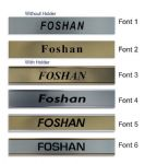 Foshan Clock Name Plate |World Time Zone City Wall clocks Sign custom Plaque